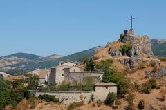 Άποψη του κάστρου του castello Di Billi της Billi σε Pennabilli στοκ εικόνες
