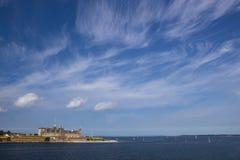 Άποψη του κάστρου Kronborg στη Δανία στοκ εικόνα