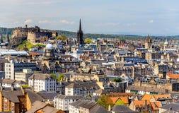 Άποψη του κέντρου της πόλης του Εδιμβούργου Στοκ Φωτογραφία