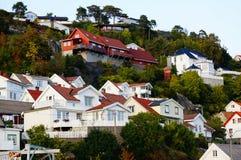Άποψη του κέντρου Kragero, Νορβηγία Στοκ εικόνες με δικαίωμα ελεύθερης χρήσης
