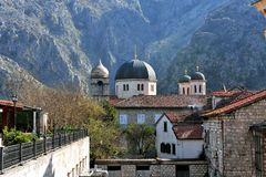 Άποψη του καθεδρικού ναού Kotor Μαυροβούνιο Στοκ Εικόνες