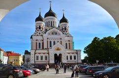 Άποψη του καθεδρικού ναού του Αλεξάνδρου Nevsky Στοκ Φωτογραφίες