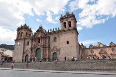Άποψη του καθεδρικού ναού Cusco σε Cusco, Περού Στοκ φωτογραφίες με δικαίωμα ελεύθερης χρήσης
