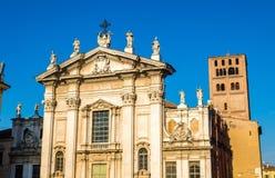 Άποψη του καθεδρικού ναού Mantua Στοκ Εικόνες