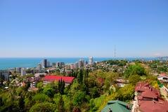 Άποψη του καλοκαιριού Sochi Στοκ Εικόνες