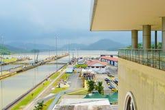 Άποψη του καναλιού του Παναμά στοκ φωτογραφία
