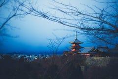 Άποψη του Κιότο από το ναό Στοκ φωτογραφία με δικαίωμα ελεύθερης χρήσης