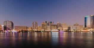Άποψη του κολπίσκου του Ντουμπάι στο παλαιό Ντουμπάι στην περιοχή Al Seef Ντουμπάι - Ε.Α.Ε. 2 Ιανουαρίου 2019 στοκ εικόνες