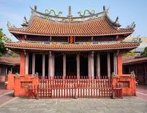 Άποψη του κομφουκιανικού ναού της Ταϊβάν στο Ταϊνάν στοκ εικόνες