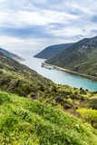 Άποψη του κολπίσκου Luka Plomin - Plomin, Κροατία Στοκ φωτογραφίες με δικαίωμα ελεύθερης χρήσης