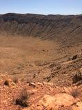 Άποψη του κρατήρα μετεωριτών που βρίσκεται σε Winslow Αριζόνα στοκ εικόνα