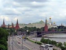 Άποψη του Κρεμλίνου από τη γέφυρα Στοκ Εικόνες