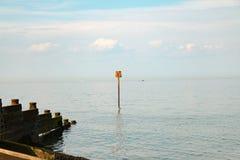 Άποψη του κόλπου Whitstable από την παραλία Whitstable Στοκ εικόνα με δικαίωμα ελεύθερης χρήσης