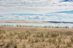 Άποψη του κόλπου του Αρκασόν, Aquitaine, Γαλλία Στοκ φωτογραφίες με δικαίωμα ελεύθερης χρήσης