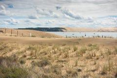 Άποψη του κόλπου του Αρκασόν, Aquitaine, Γαλλία στοκ φωτογραφία