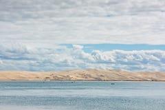 Άποψη του κόλπου του Αρκασόν, Aquitaine, Γαλλία Στοκ φωτογραφία με δικαίωμα ελεύθερης χρήσης