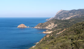 Άποψη του κόλπου Monte Argentario, Τοσκάνη, Ιταλία Στοκ εικόνες με δικαίωμα ελεύθερης χρήσης