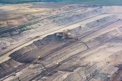 Άποψη του λατομείου άνθρακα επιφάνειας Στοκ Εικόνες