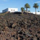 Άποψη του Λα Geria, η περιοχή αμπελοκαλλιέργειας Lanzarote, Ισπανία Στοκ Φωτογραφία