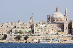 Άποψη του Λα Valletta από Sliema Μάλτα Στοκ Εικόνα