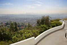 Άποψη του Λος Άντζελες από τη γέφυρα παρατήρησης του Griffith παρατηρητήριου στοκ εικόνες