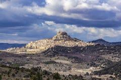 Άποψη του μεσαιωνικού χωριού Morella, Castellon, Ισπανία στοκ εικόνα με δικαίωμα ελεύθερης χρήσης