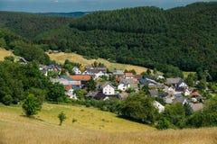 Άποψη του μικρού γραφικού χωριού στη Γερμανία Στοκ Εικόνες