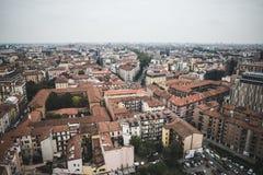 Άποψη του Μιλάνου από τους πύργους Garibaldi Στοκ Εικόνες