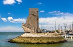 Άποψη του μνημείου στις ανακαλύψεις στη Λισσαβώνα στοκ φωτογραφίες με δικαίωμα ελεύθερης χρήσης
