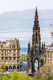 Άποψη του μνημείου στο Sir Walter Scott Στοκ φωτογραφία με δικαίωμα ελεύθερης χρήσης