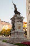 Άποψη του μνημείου του Pedro Velarde, σαντάντερ Στοκ φωτογραφία με δικαίωμα ελεύθερης χρήσης