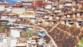 Άποψη του μοναστηριού Baiyu σε Baiyu απόθεμα βίντεο