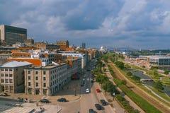 Άποψη του Μόντρεαλ Στοκ Εικόνες