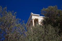 Άποψη του ναού Αθηνάς Niki στην Αθήνα, Ελλάδα στοκ εικόνες με δικαίωμα ελεύθερης χρήσης