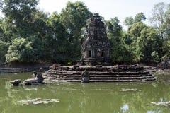 Άποψη του ναού νησιών Preah Neak Poan Στοκ Φωτογραφία