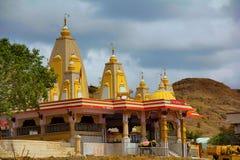 Άποψη του ναού Waghjai Mata, Shindewadi, δρόμος Pune Satara στοκ φωτογραφία