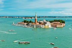 Άποψη του νησιού SAN Giorgio, Βενετία Στοκ φωτογραφίες με δικαίωμα ελεύθερης χρήσης