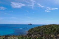 Άποψη του νησιού Vacca, SantAntioco, Σαρδηνία Στοκ φωτογραφίες με δικαίωμα ελεύθερης χρήσης