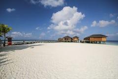 Άποψη του νησιού vilamendhoo στην πλευρά μπανγκαλόου νερού στον Ινδικό Ωκεανό, Μαλδίβες στοκ φωτογραφία με δικαίωμα ελεύθερης χρήσης