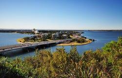 Άποψη του νότιου Περθ από το πάρκο του βασιλιά Στοκ Φωτογραφίες