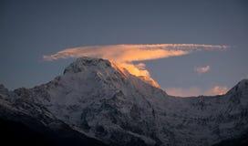 Άποψη του νότου Annapurna, Νεπάλ Στοκ εικόνες με δικαίωμα ελεύθερης χρήσης