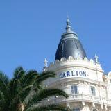 Άποψη του ξενοδοχείου carlton στις Κάννες Στοκ Φωτογραφία