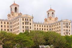 Άποψη του ξενοδοχείου Nacional de Κούβα, Αβάνα διάστημα αντιγράφων Στοκ Εικόνες