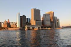 Άποψη του ορίζοντα του Μανχάταν Νέα Υόρκη Στοκ Εικόνες