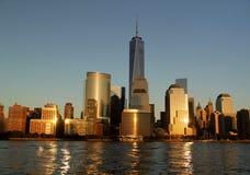 Άποψη του ορίζοντα του Μανχάταν Νέα Υόρκη Στοκ Φωτογραφίες