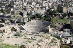 Άποψη του ορίζοντα του Αμμάν, Ιορδανία Στοκ Εικόνες