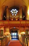 Άποψη του οργάνου στην εκκλησία, Σουηδία, Σκανδιναβία, Ευρώπη Στοκ φωτογραφία με δικαίωμα ελεύθερης χρήσης