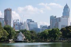 άποψη του πάρκου πόλεων και φύσης στη μητρόπολη από το πάρκο στοκ εικόνα με δικαίωμα ελεύθερης χρήσης