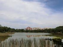 Άποψη του πάρκου Punggol Στοκ εικόνα με δικαίωμα ελεύθερης χρήσης