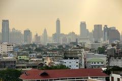 Άποψη του παλαιού κέντρου και σύγχρονο μέρος της Μπανγκόκ, Ασία Στοκ Εικόνες